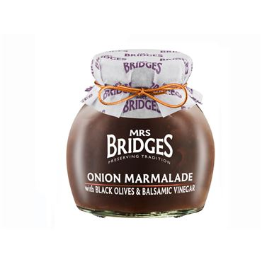 Mermelada de Cebolla con Aceitunas Negras y Vinagre Balsámico 285g MRS BRIDGES