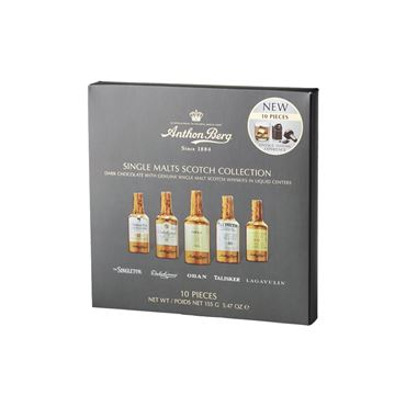 Chocolate Scotch Whisky Single Malt 10pcs 155g ANTHON BERG