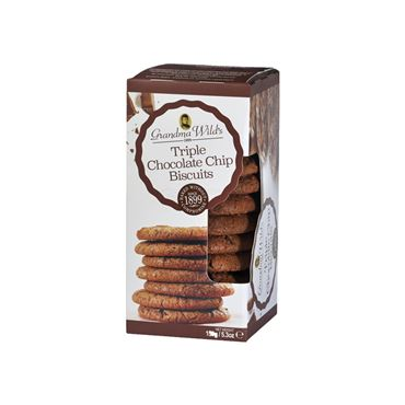 Galleta Triple Chocolate Chip 150g GRANDMA WILD´S