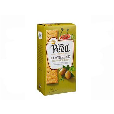 Cracker Flatbread con Aceitunas y Hierbas 100g JOS POELL