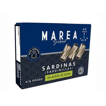 Sardinas (Sardinillas) 4/6 piezas Pack de 3 latas 3x50g MAREA GOURMET