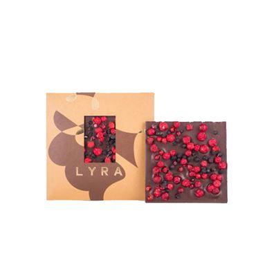 Chocolate negro 53% con Arandanos y Grosellas 80g LYRA CHOCOLATE