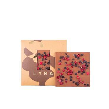 Chocolate con leche con Arandanos y Grosellas 80g LYRA CHOCOLATE