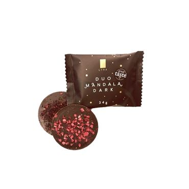 DUO MANDALA DARK Chocolate negro 54% 34g LYRA CHOCOLATE