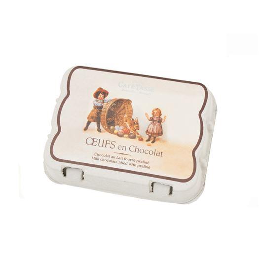 Caja de 12 Huevos de Chocolate Praliné 156g CAFE TASSE - R8073