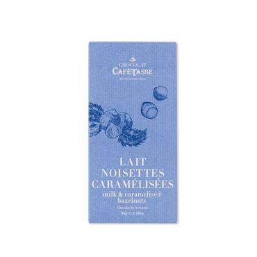Chocolate con Leche y Avellanas Caramelizadas 85g CAFE TASSE