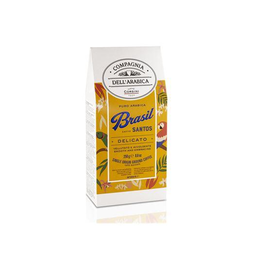 Café Puro Arabica BRASIL SANTOS 250g COMPAGNIA DELL´ARABICA - DBA003NEW