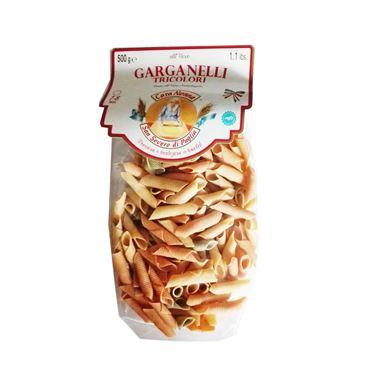 Pasta Al Huevo Garganelli Tricolor 500g CARA NONNA